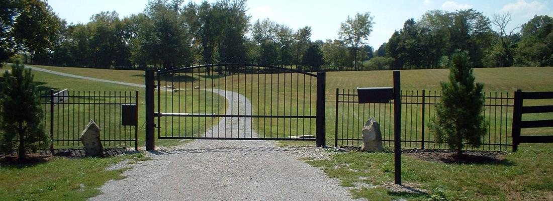 12 Foot Driveway Single Swing Gate Install