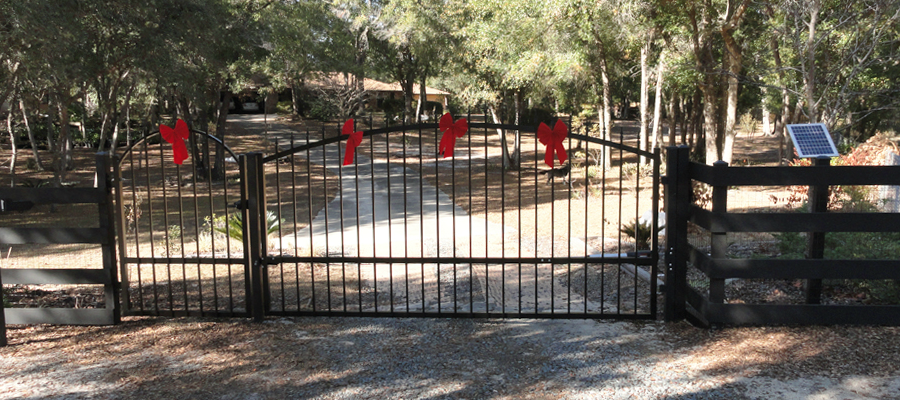 14 Foot Driveway Single Swing Gate Installation