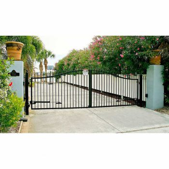 Victorian 14' Dual swing Steel Driveway Gate 2