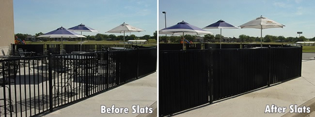 Privacy Slats For Aluminum Steel And Wrought Iron Fence