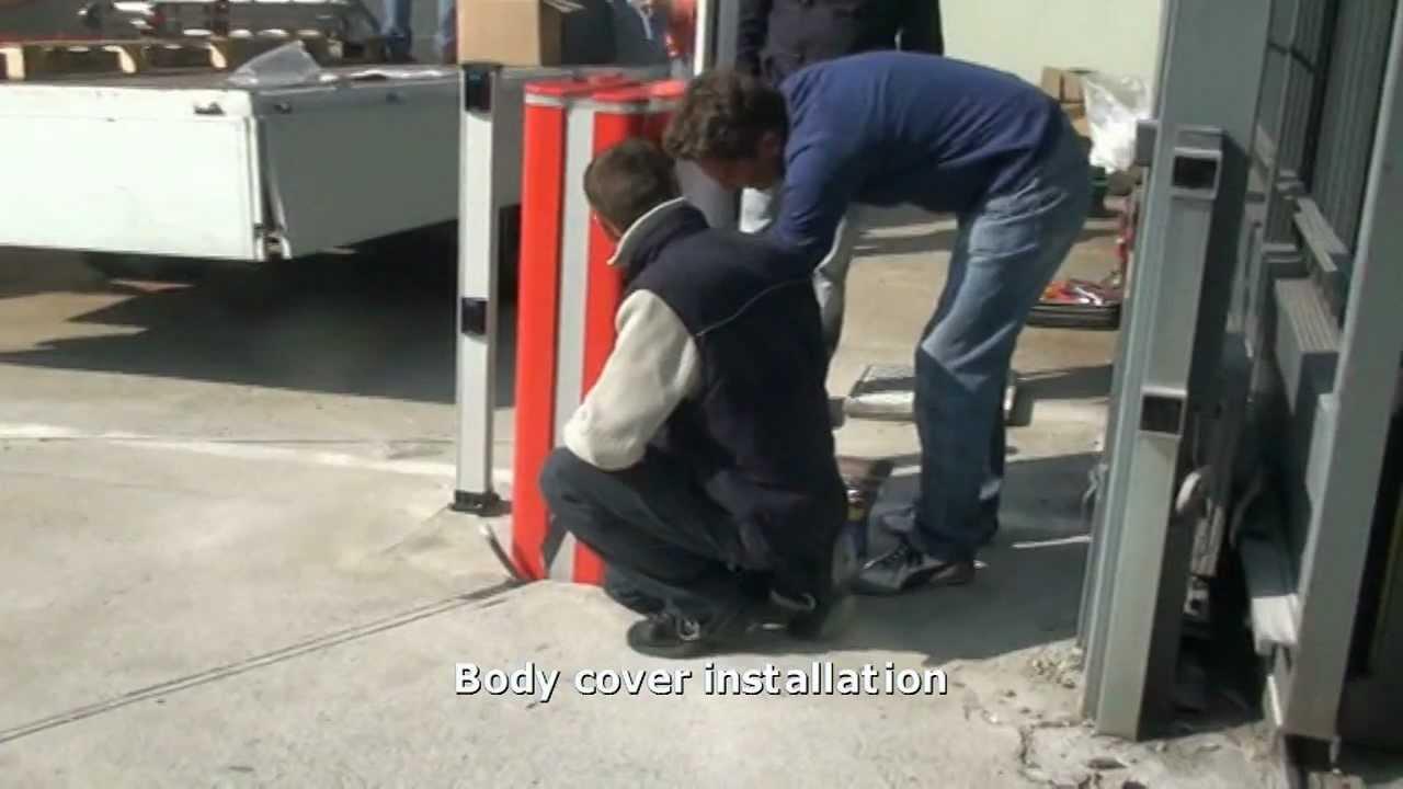 FAAC-B680H-24v-Hydraulic-Barrier-Installation
