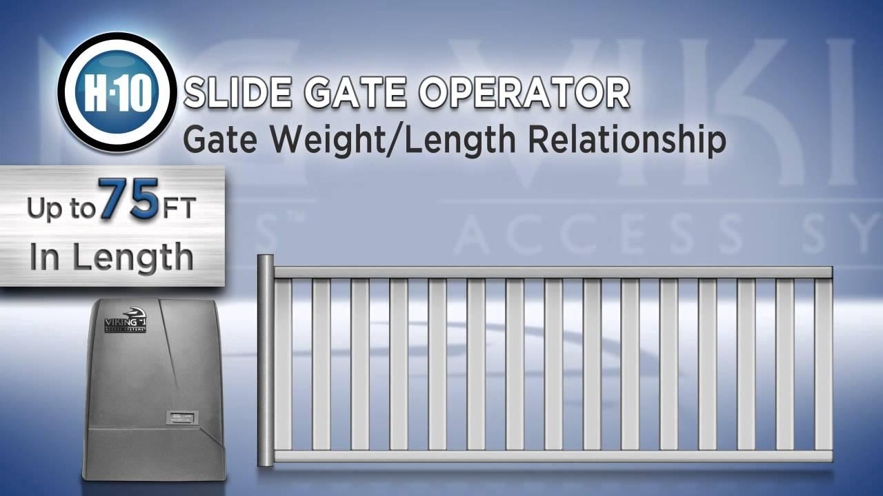 H-10-Slide-Gate-Operator