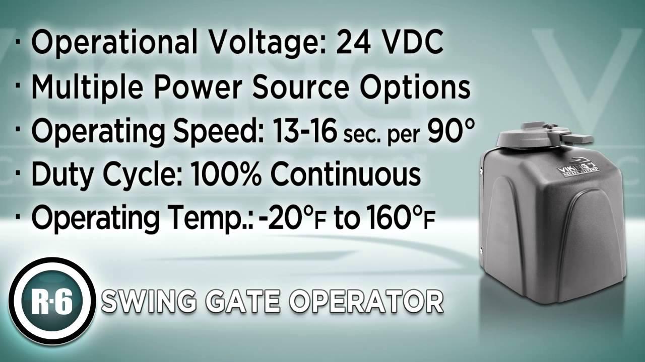 R-6-Swing-Gate-Operator