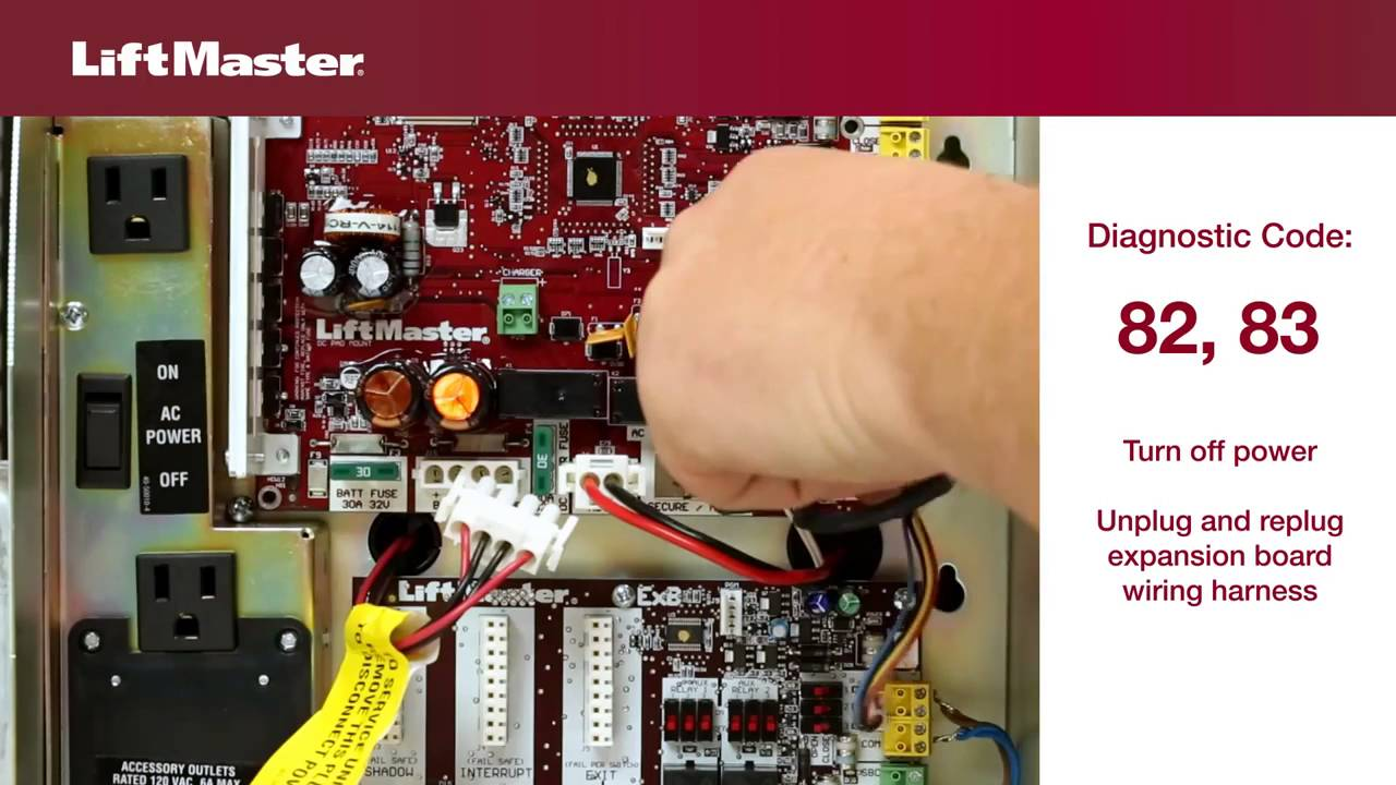 LiftMaster-Error-Code-82-thru-83-Gate-Opener-Troubleshooting