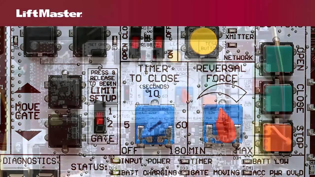 LiftMaster-Program-Gate-Operator-Travel-limits