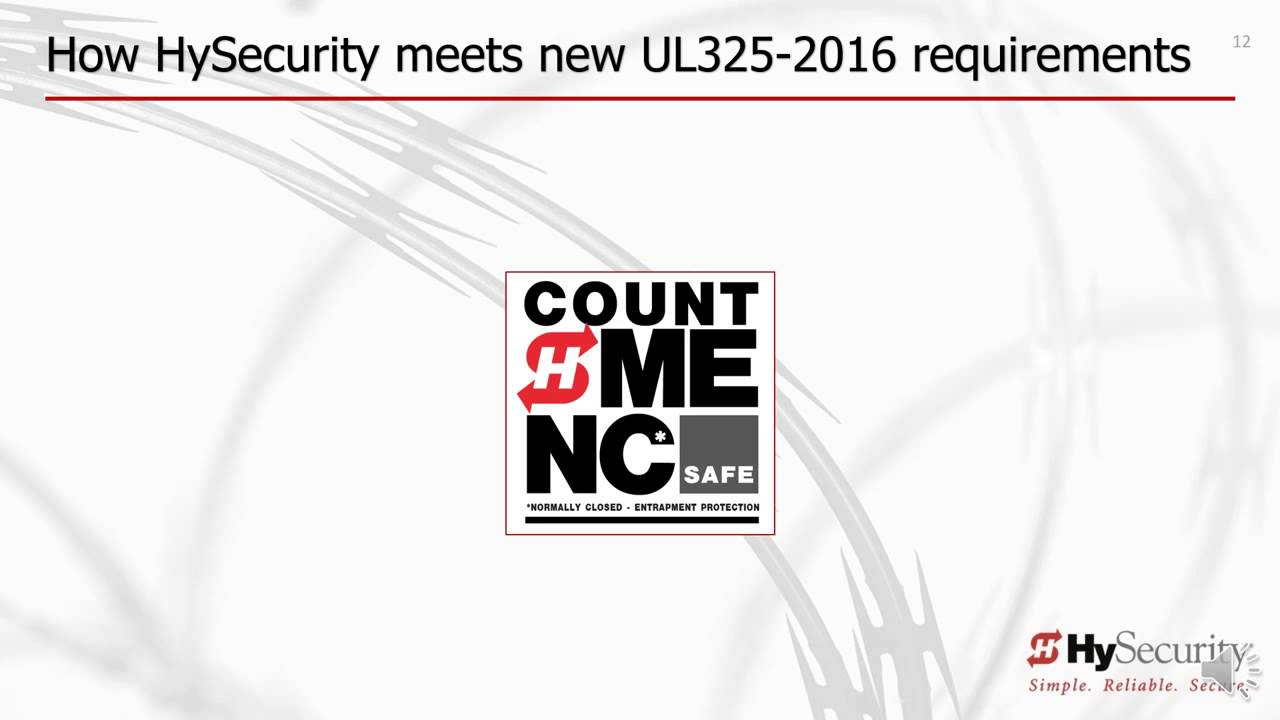 HySecurity-UL-325-6th-Edition-Installer-Training-UPDATE