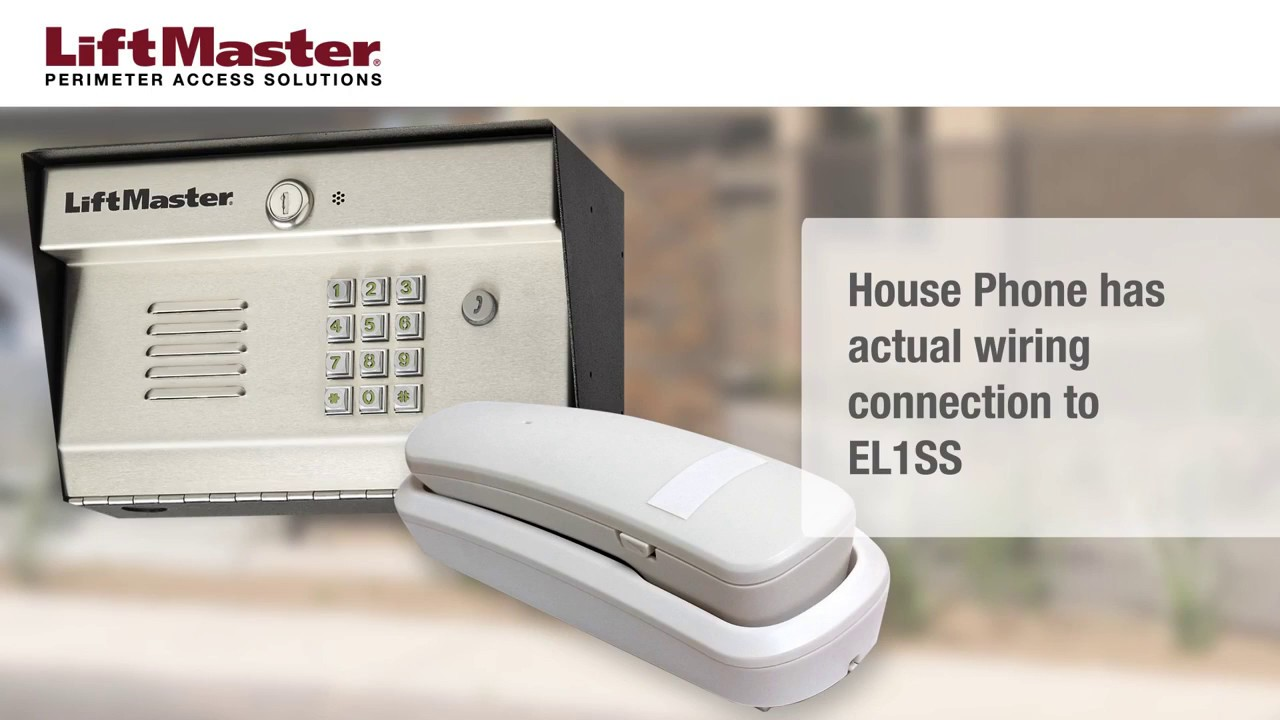 LiftMaster-How-to-Setup-the-EL1SS-Telephone-Entry-System-Using-a-House-Phone