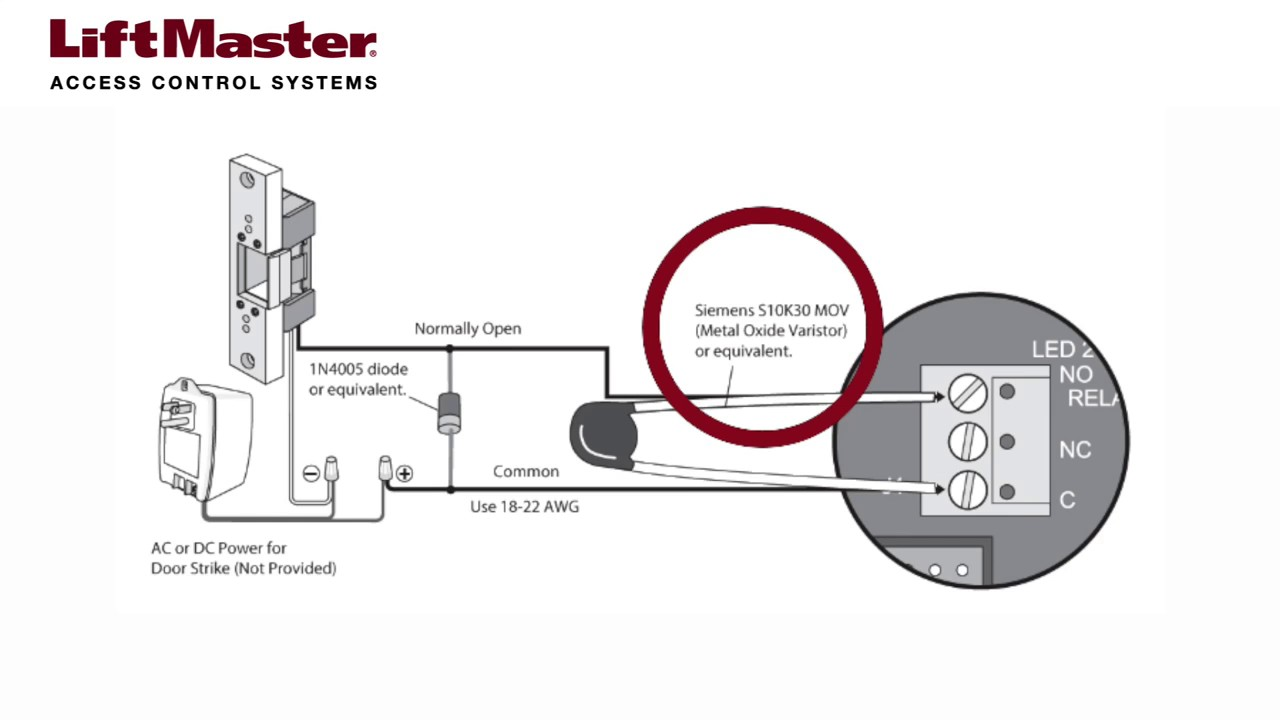 LiftMaster-How-to-Wire-a-Door-Strike-to-the-EL2000-EL2000SS-or-EL25-Telephone-Entry-System