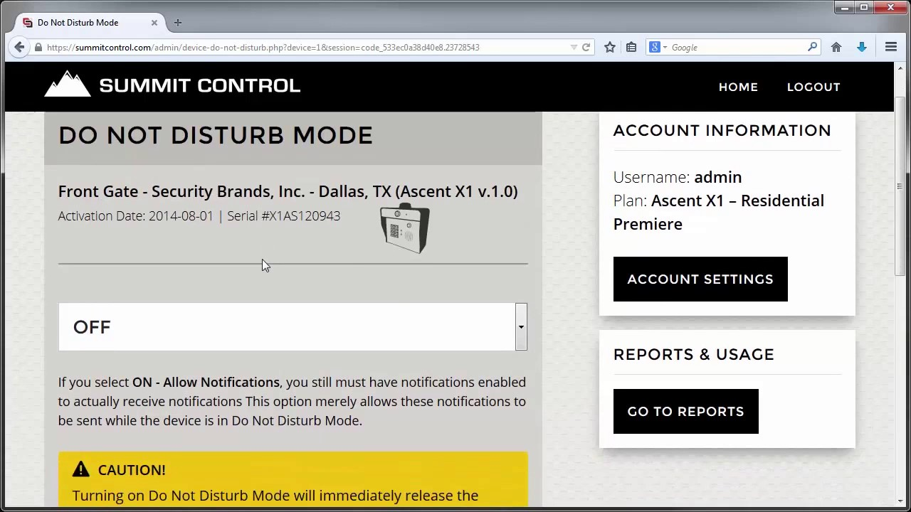 Security-Brands-Summit-Control-How-to-Enable-Do-Not-Disturb-Mode