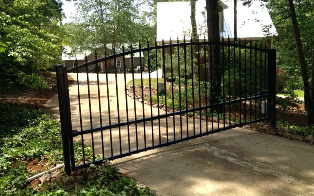 14 Foot Swing Gate Installation