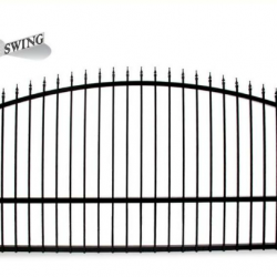 Estate Swing 12 Foot Long Single Driveway Gate Made in USA