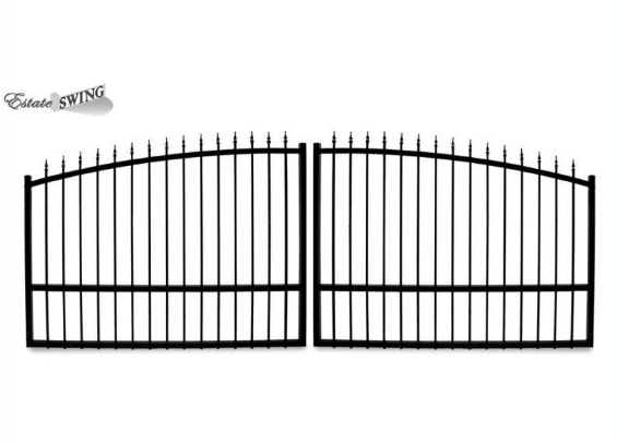 The Estate Swing 14 Foot Long Dual Driveway Gate Made in USA