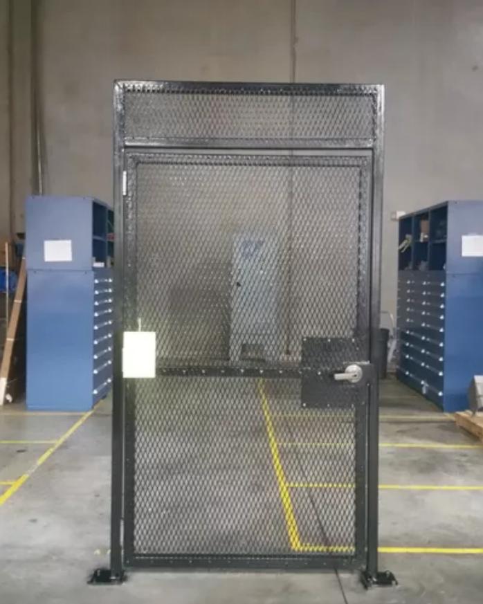 Access Controlled Self Closing Pedestrian Security Gate