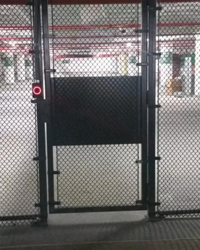 Industrial Interior Self Closing Pedestrian Security Gate
