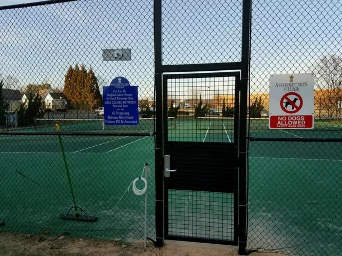 Security self closing Pedestrian Gate