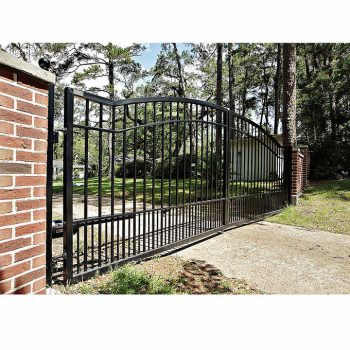 Cascade 14' Dual Steel Driveway Gate 2