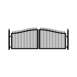 Victorian 14' Dual Swing Steel Driveway Gate