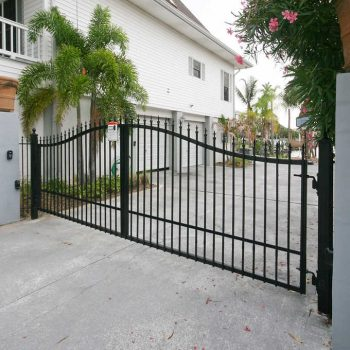 Victorian 14' Dual swing Steel Driveway Gate 1