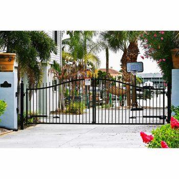 Victorian 14' Dual swing Steel Driveway Gate 3