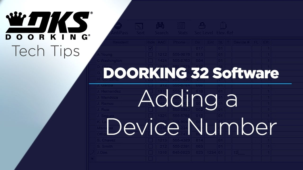 DKS-Tech-Tips-DoorKing-32-Remote-Account-Manager-Software-Adding-a-Device-Number