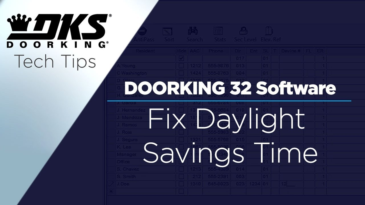 DKS-Tech-Tips-DoorKing-32-Remote-Account-Manager-Software-Fix-Daylight-Savings-Time