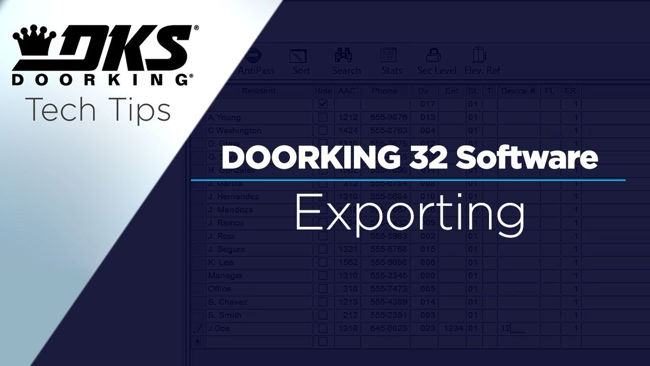 vbp-2148-DKS-Tech-Tips-DoorKing-32-Remote-Account-Manager-Software-Exporting-Account-Data-804-299-4472