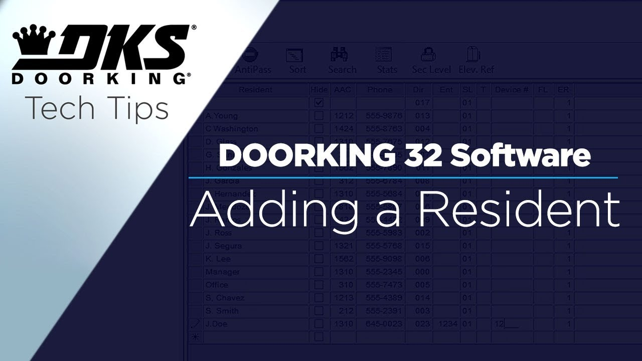 vbp-2168-DKS-Tech-Tips-DoorKing-32-Remote-Account-Manager-Software-Adding-a-Resident-804-299-4472