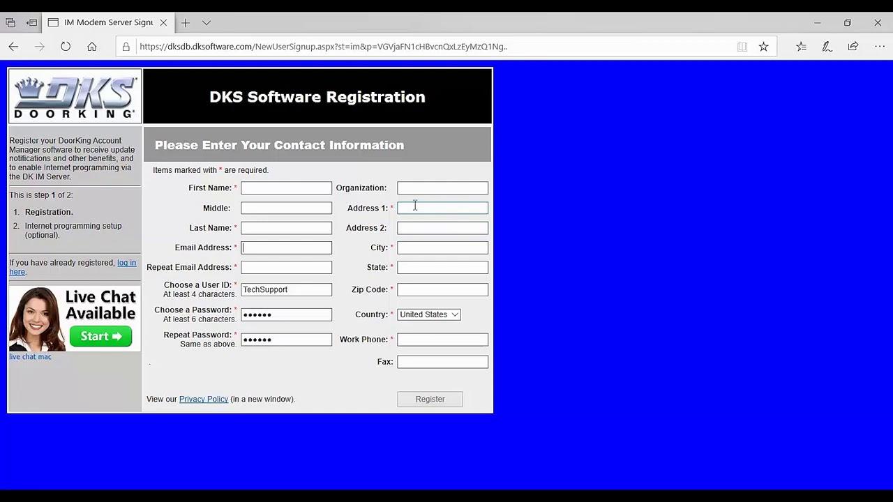 DKS-Remote-Account-Manager-Software-IM-Server-Registration