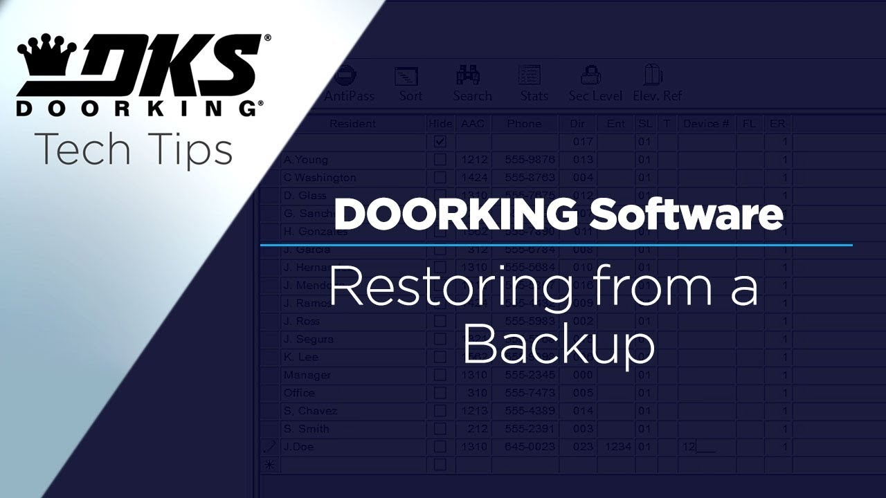 DKS-Tech-Tips-DoorKing-32-Remote-Account-Manager-Software-Restoring-the-Software-from-a-Backup