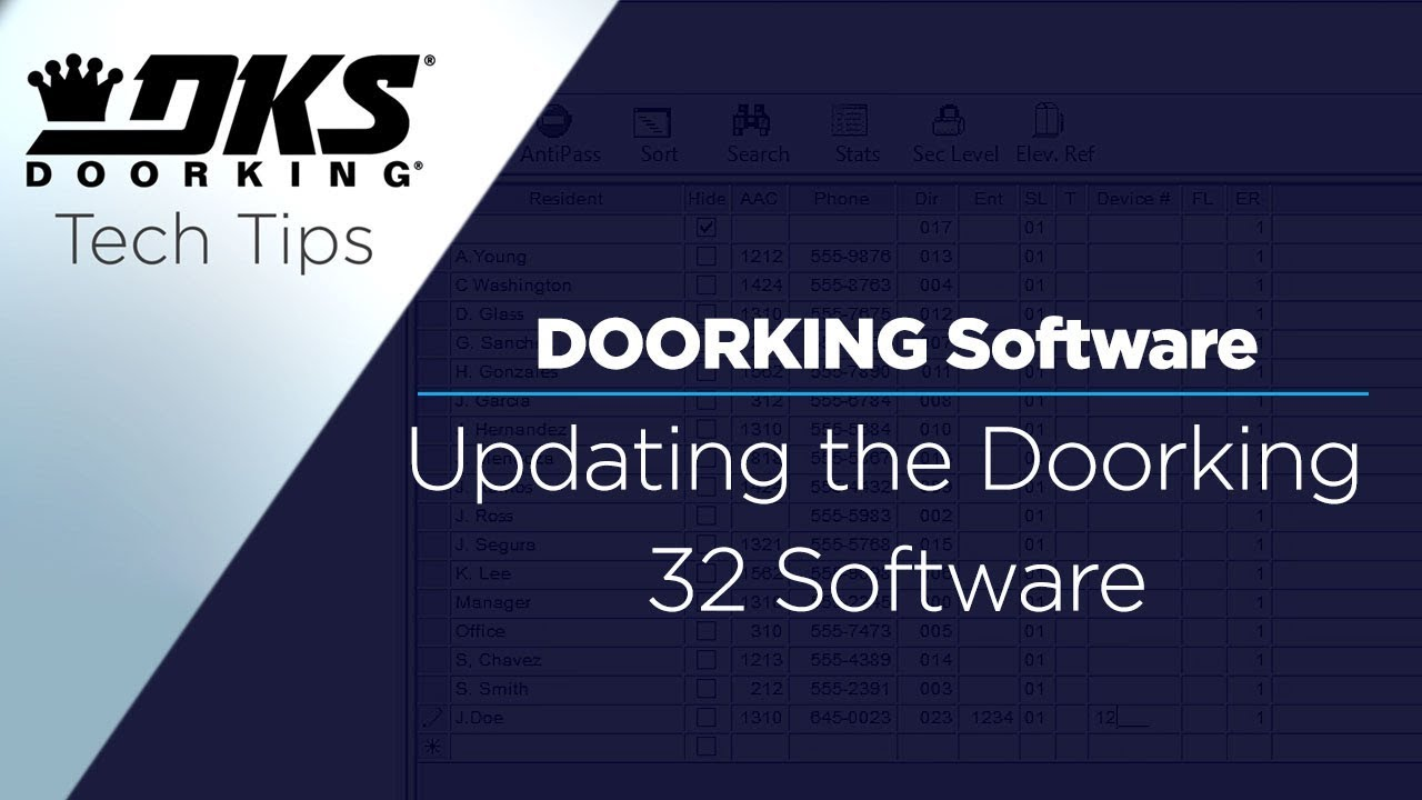 DKS-Tech-Tips-DoorKing-32-Remote-Account-Manager-Software-Updating-the-Software