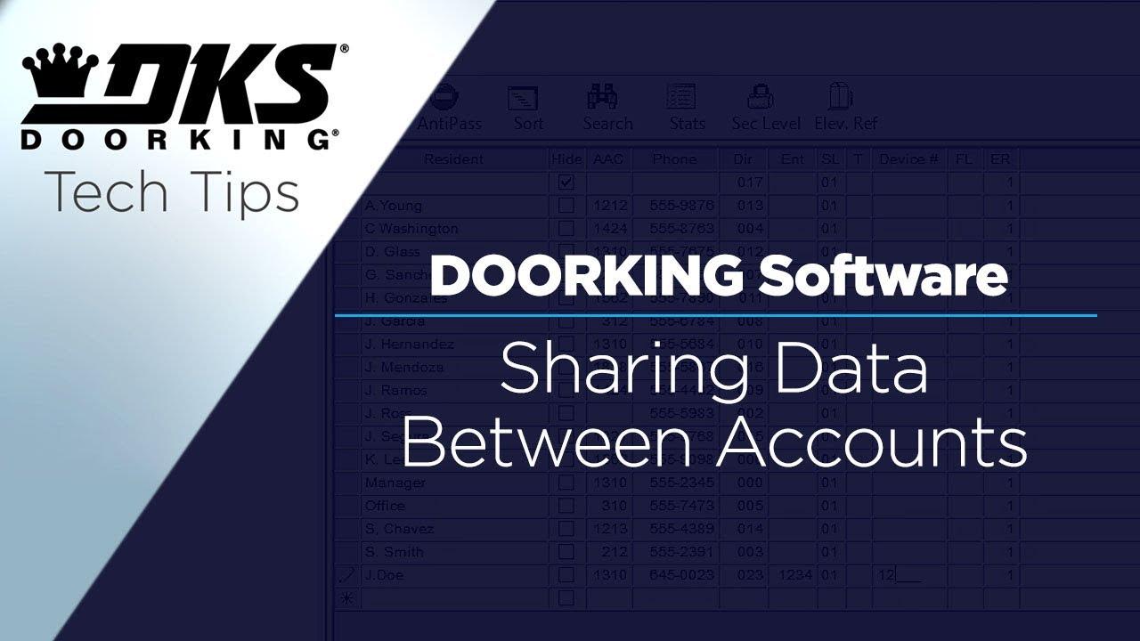 vbp-2809-DKS-Tech-Tips-DoorKing-32-Remote-Account-Manager-Software-Sharing-Data-Between-Accounts-804-299-4472