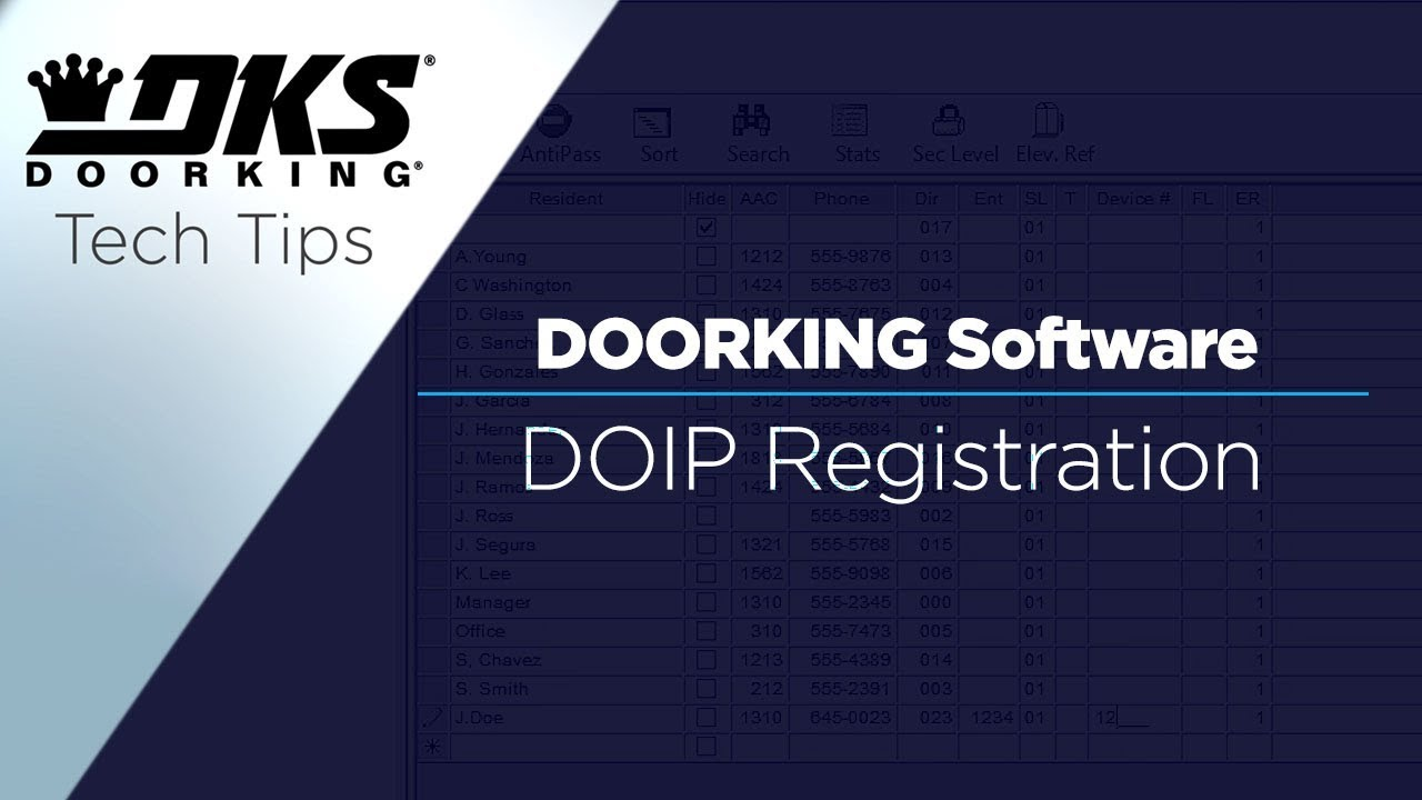 DKS-Tech-Tips-DoorKing-32-Remote-Account-Manager-Software-Data-Over-IP-Device-Registration