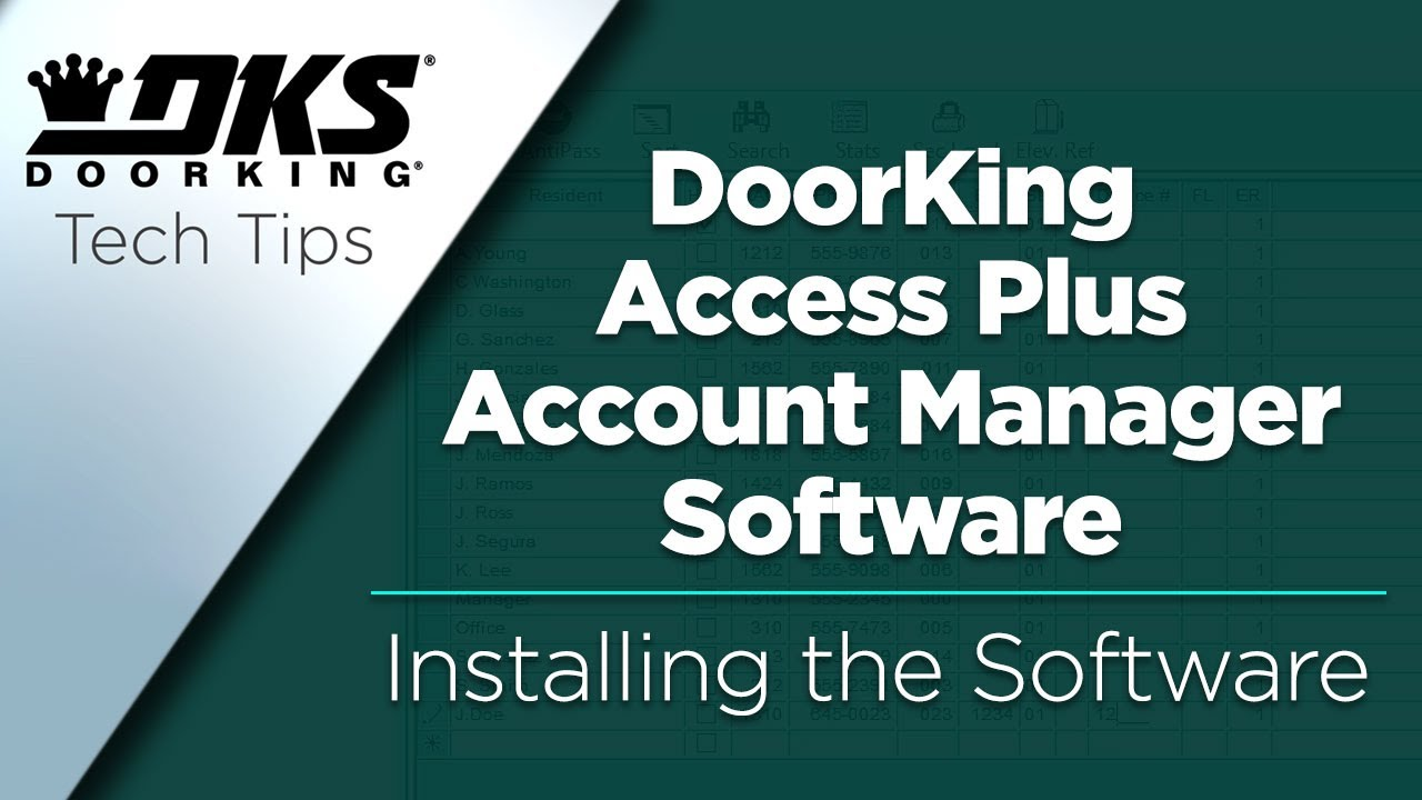 DKS-Tech-Tips-DoorKing-Access-Plus-Account-Manager-Software-Installing-the-Software