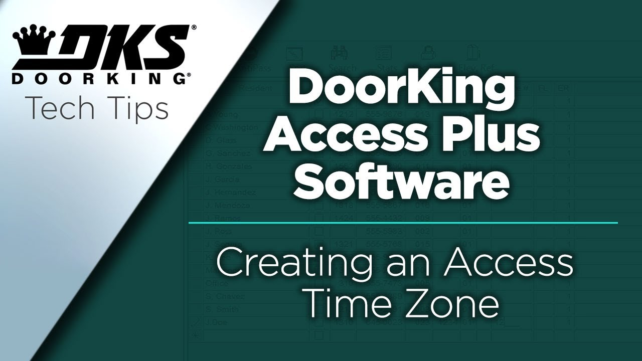 DKS-Tech-Tips-DoorKing-Access-Plus-Account-Manager-Software-Creating-an-Access-Time-Zone