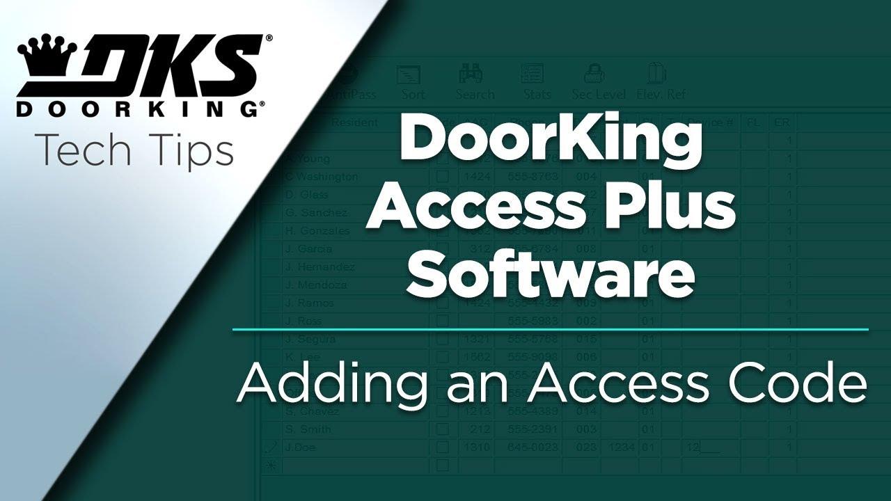 vbp-3141-DKS-Tech-Tips-DoorKing-Access-Plus-Account-Manager-Software-Adding-an-Access-Code-804-299-4472