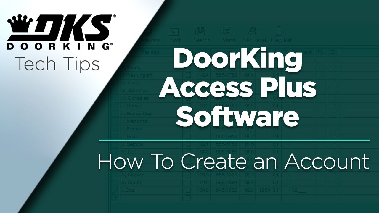 vbp-3146-DKS-Tech-Tips-DoorKing-Access-Plus-Account-Manager-Software-Creating-a-New-Account-804-299-4472
