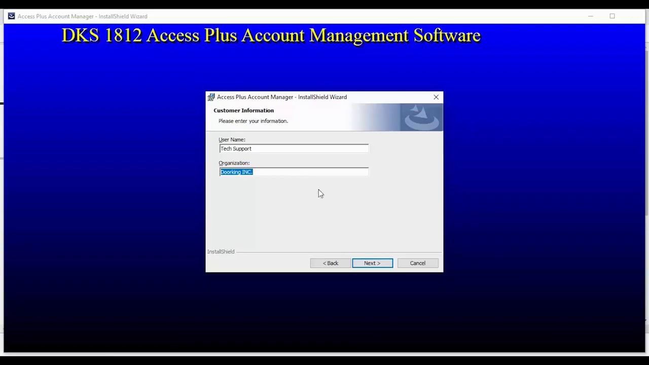 DKS-Access-Plus-Account-Manager-Software-Installing-the-Software