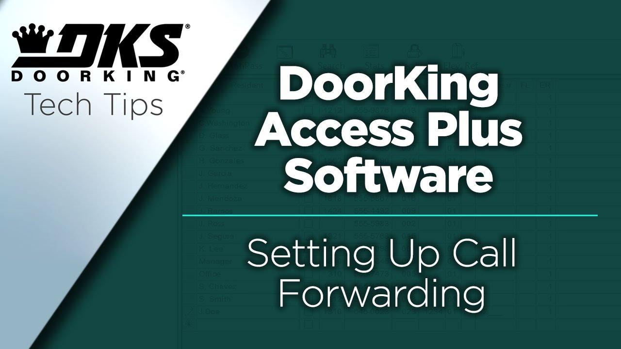 DKS-Tech-Tips-DoorKing-Access-Plus-Account-Manager-Software-Setting-Up-Call-Forwarding