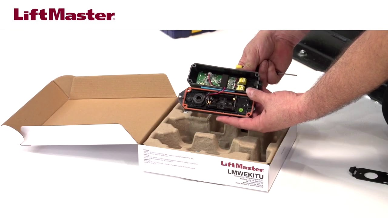 LiftMaster-How-to-Install-the-LMWEKITU-with-a-Resistive-Edge-Sensor-on-a-LiftMaster-Gate