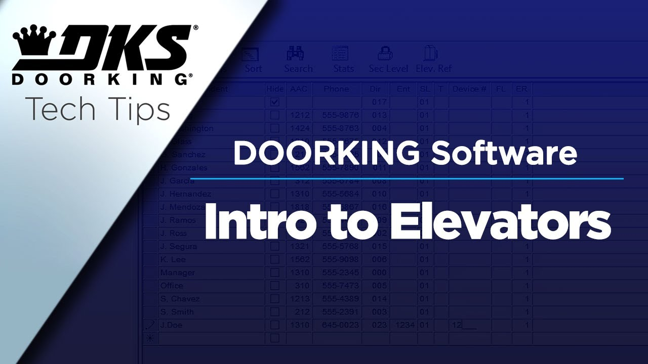 DKS-Tech-Tips-DoorKing-32-Remote-Account-Manager-Software-Introduction-to-Elevators