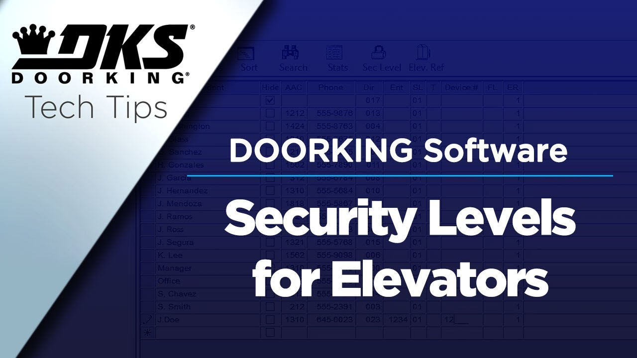 DKS-Tech-Tips-DoorKing-32-Remote-Account-Manager-Software-Programming-Elevator-Security-Levels
