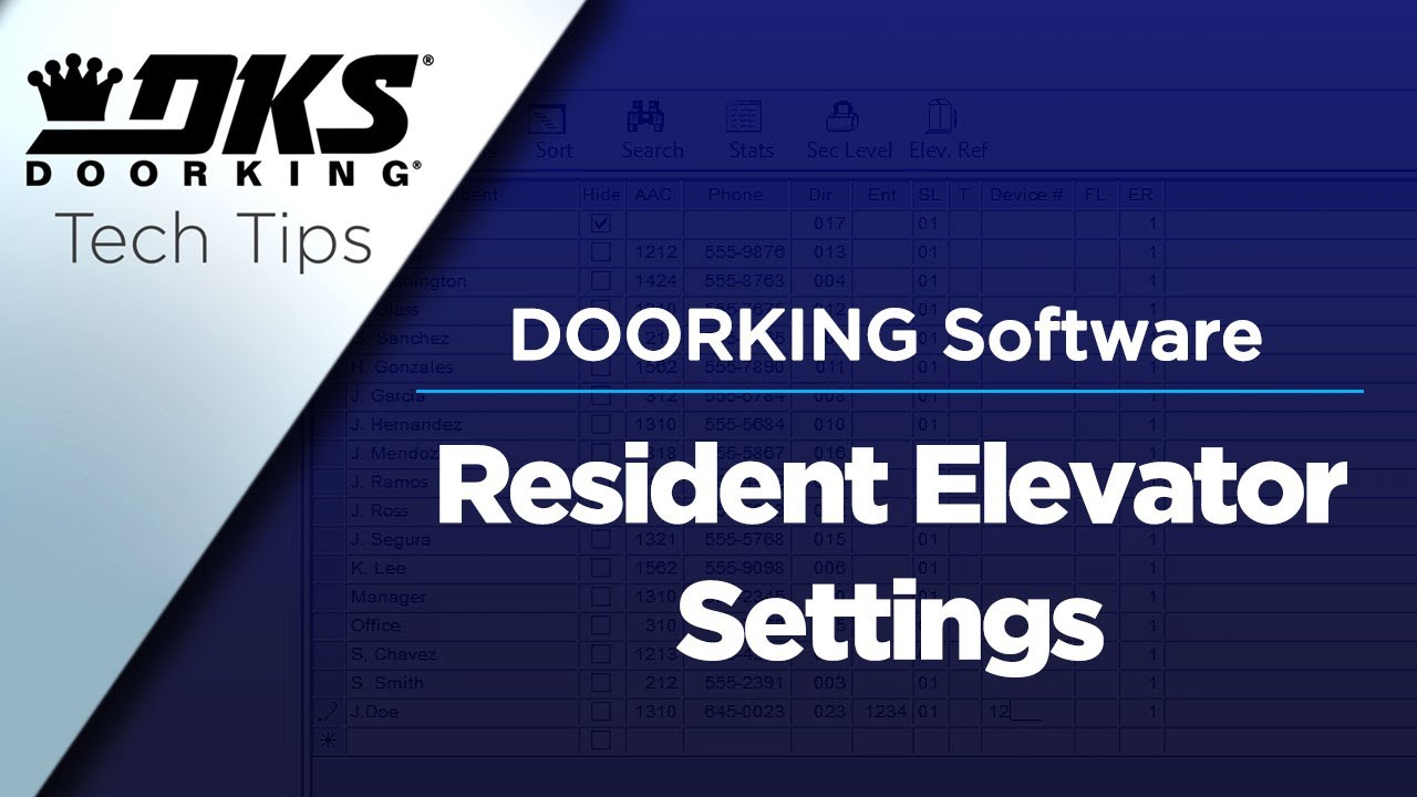 DKS-Tech-Tips-DoorKing-32-Remote-Account-Manager-Software-Programming-Resident-Elevator-Settings