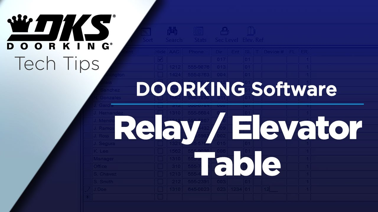 vbp-3485-DKS-Tech-Tips-DoorKing-32-Remote-Account-Manager-Software-Relay-Elevator-Table-Programming-804-299-4472