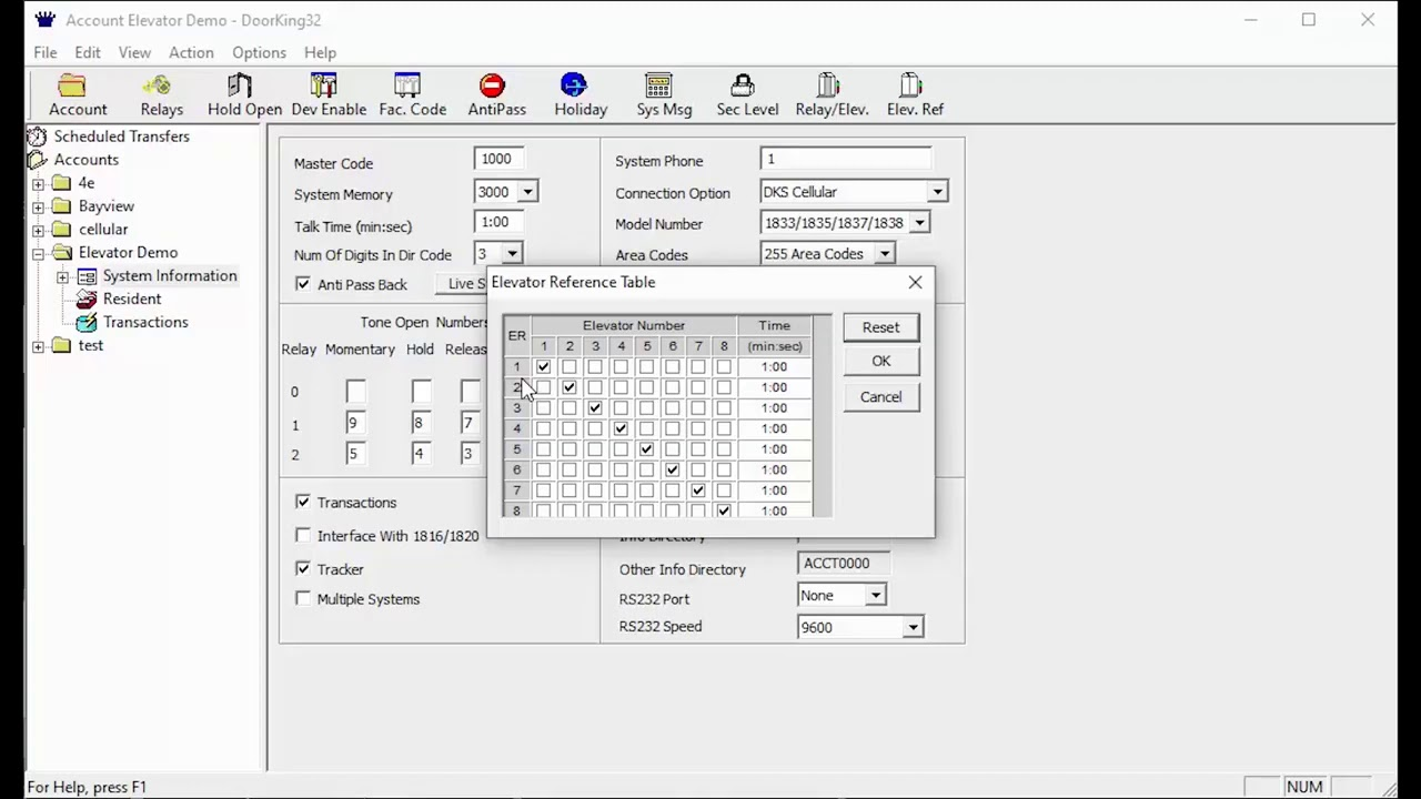 DKS-Remote-Account-Manager-Software-Programming-Elevator-Reference-Settings