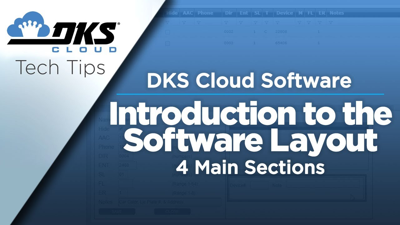 DKS-Tech-Tips-DoorKing-Cloud-Entry-System-Management-Software-Introduction-to-the-Software-Layout