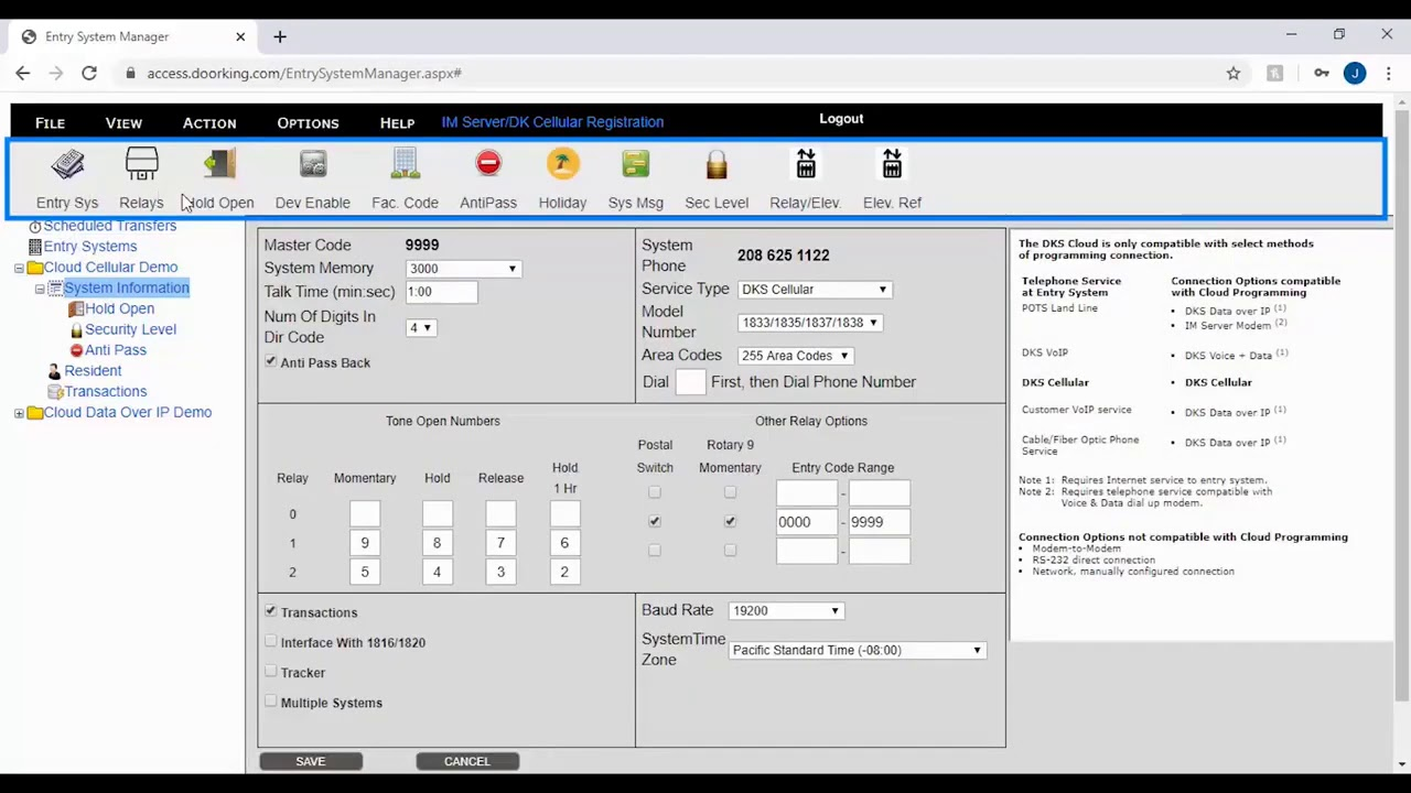 vbp-3681-DKS-8211-Cloud-Entry-System-Management-Software-Introduction-to-the-Software-Layout-804-299-4472