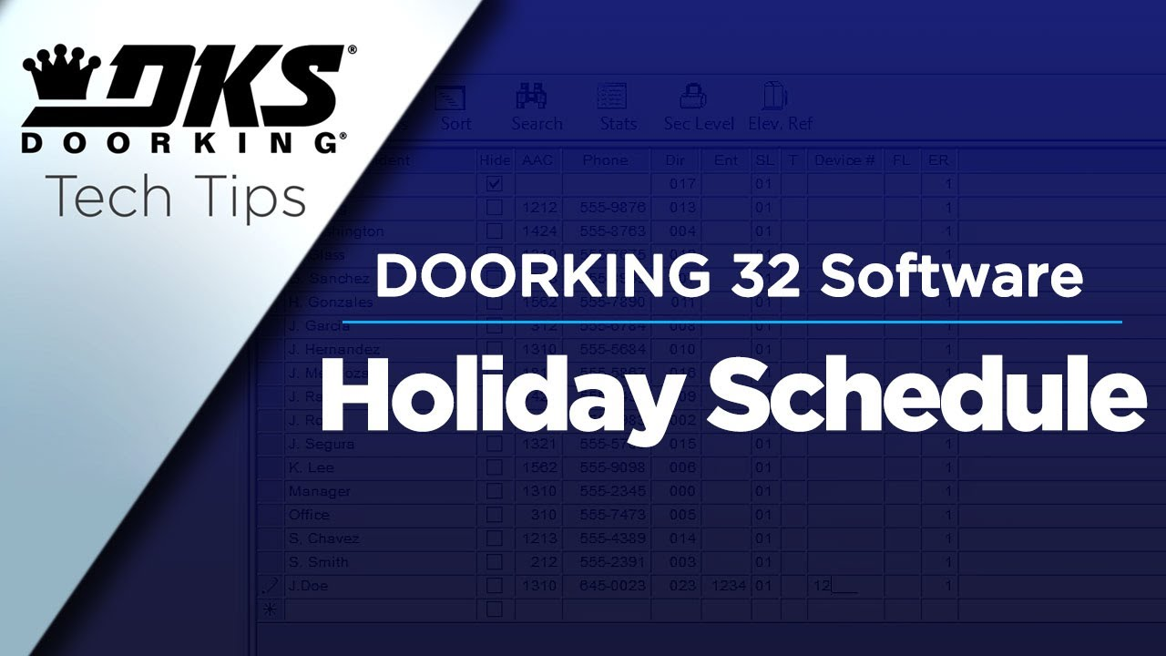 vbp-3687-DKS-Tech-Tips-DoorKing-32-Remote-Account-Manager-Software-Setting-Holiday-Schedules-804-299-4472