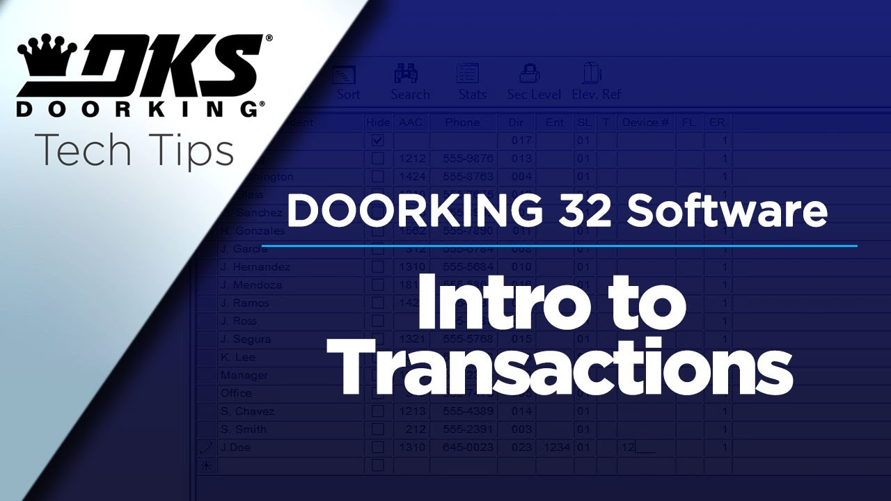 vbp-3702-DKS-Tech-Tips-DoorKing-32-Remote-Account-Manager-Software-Introduction-to-Transactions-804-299-4472