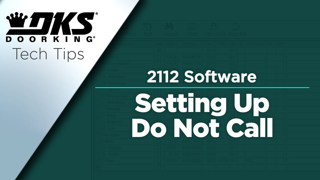 DKS-Tech-Tips-DoorKing-2112-eVolve-Telephone-Entry-System-Setting-Up-Do-Not-Call